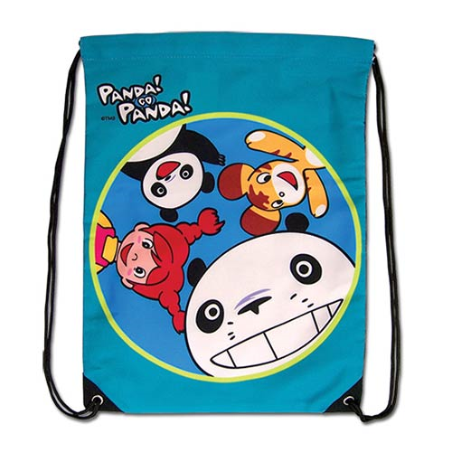 Panda! Go Panda! Greeting Drawstring Bag