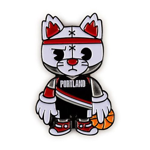 Blazers Mascot: NBA Portland Trailblazers Blaze Mascot Enamel Pin
