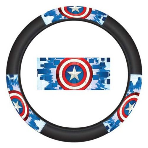 4e057a301a280d Captain America Shield Speed Grip Steering Wheel Cover ...