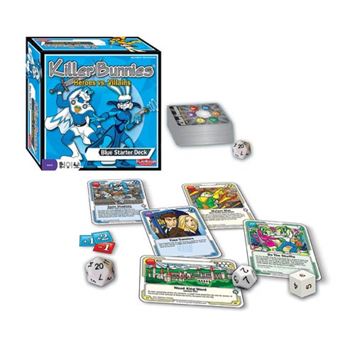 Killer Bunnies Heroes vs. Villains Blue Starter Deck