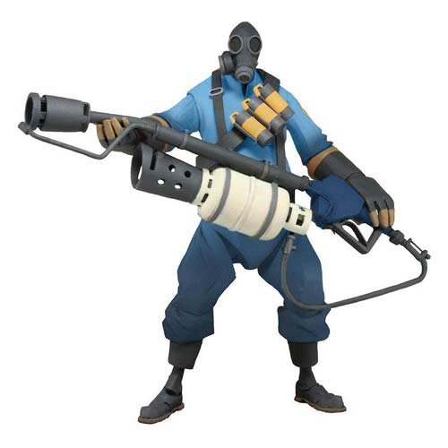 Team Fortress BLU Pyro Series 1 Deluxe 7-Inch Action Figure