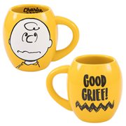 Peanuts Charlie Brown Good Grief 18 oz. Oval Ceramic Mug