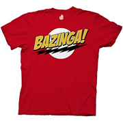 Big Bang Theory Bazinga Red T-Shirt