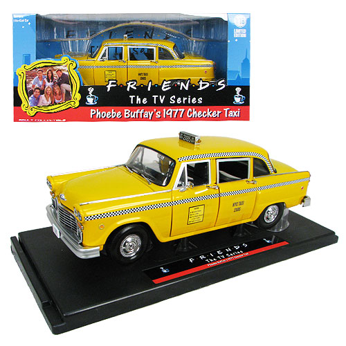 Friends Phoebe Buffay's 1977 Checker Taxicab 1:18 Scale Die-Cast Metal Vehicle