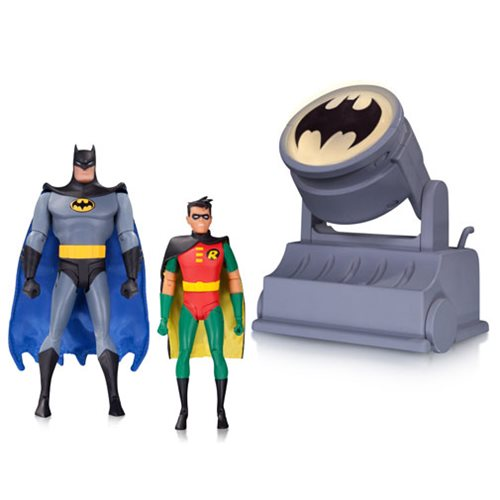 Batman: The Animated Series Batman and Robin Figures with Bat-Signal