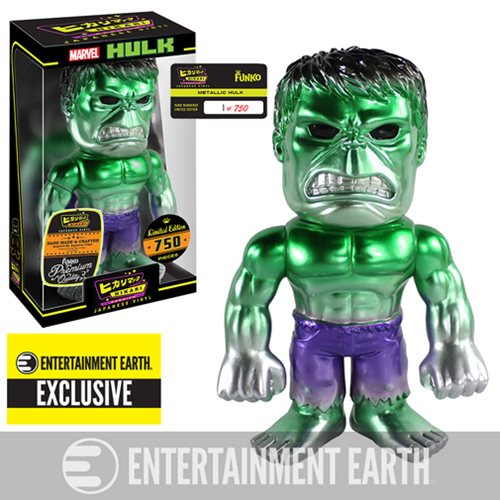 Hulk Metallic Premium Hikari Sofubi Vinyl Figure - Entertainment Earth Exclusive, Not Mint