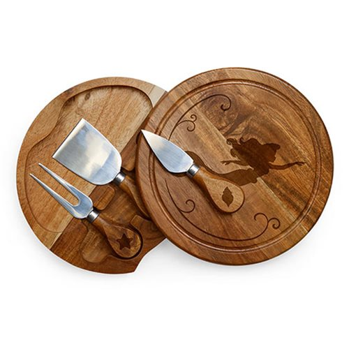The Little Mermaid Acacia Brie Cheese Board and Tools Set