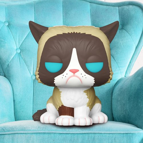 Grumpy Cat Flocked Pop! Vinyl Figure - Entertainment Earth Exclusive