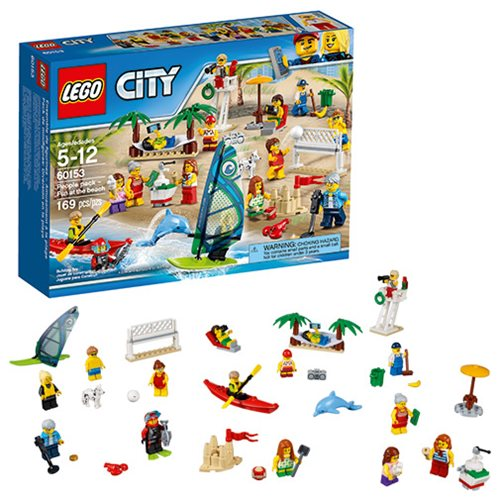 LEGO City Town 60153 People Pack Fun at the Beach