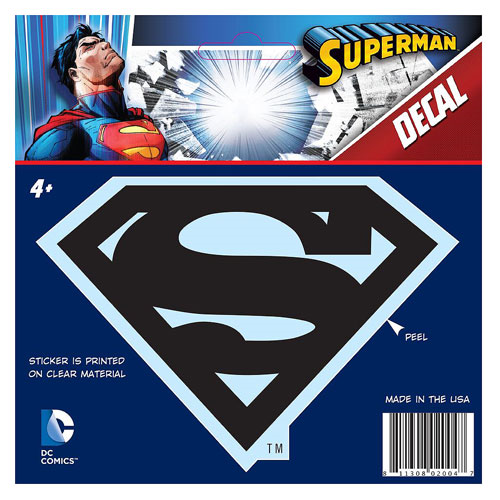 Superman Classic Logo Black Decal