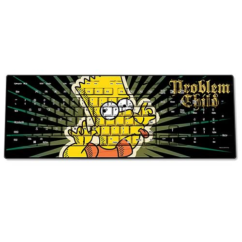 Simpsons Bart Problem Child Wireless Keyboard