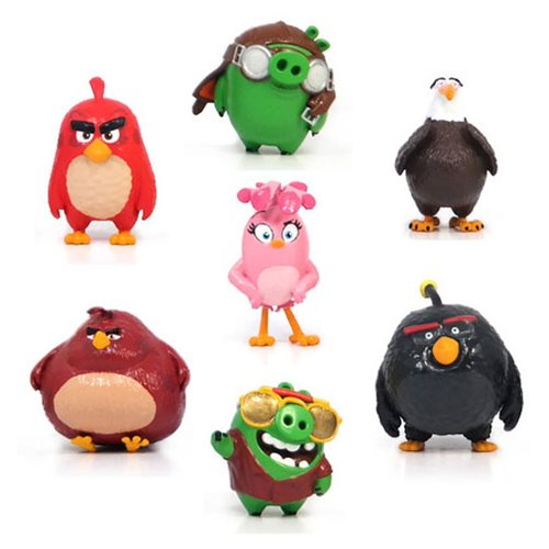 Angry Birds Movie Mini-Figure 7-Pack Set A, Not Mint