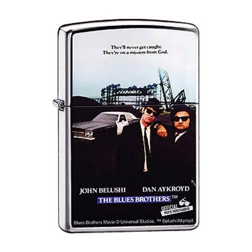 Blues Brothers Movie Poster High Polish Chrome Zippo Lighter