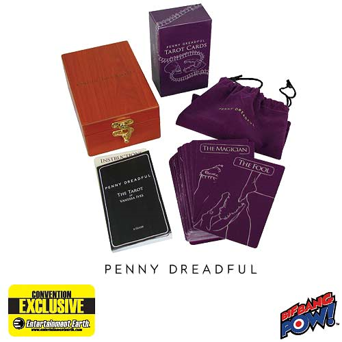 Penny Dreadful Tarot Cards in Engraved Wood Box and Velvet Bag Set of 78 - Convention Exclusive