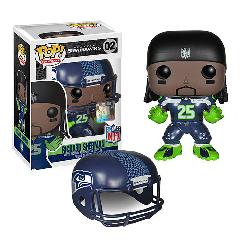 NFL Richard Sherman Wave 1 Pop! Vinyl Figure, Not Mint