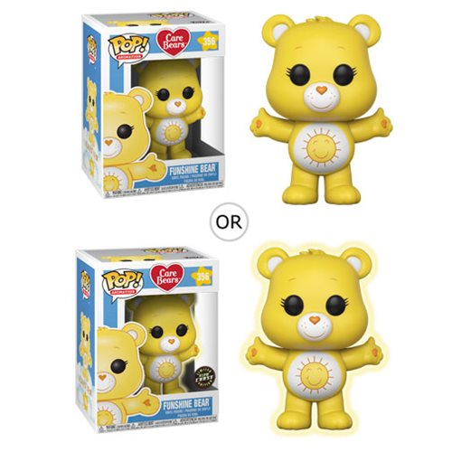 Care Bears Funshine Bear Pop! Vinyl Figure #356, Not Mint
