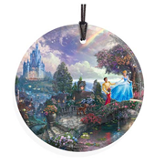 Cinderella Wish Upon a Dream by Thomas Kinkade StarFire Prints Hanging Glass Print