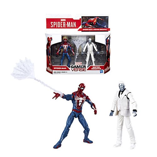 Marvel Gamerverse Spider-Man Spider-Man vs. Mister Negative 3 3/4-Inch Action Figure 2-Pack