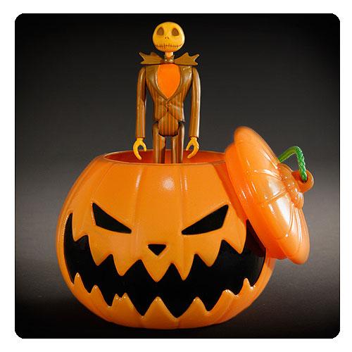 nightmare before christmas halloween jack skellington reaction figure in pumpkin ornament sdcc 2015 exclusive