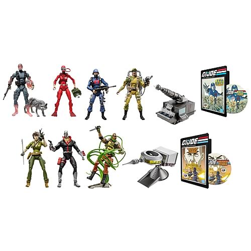 G.I. Joe DVD Entertainment Battle Packs Wave 1 Set