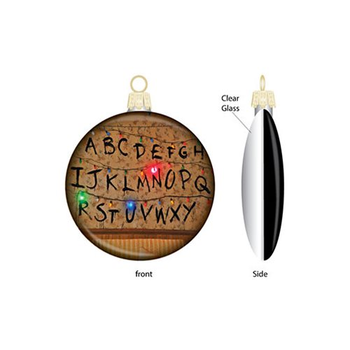 Stranger Things Lights Printed Glass 80mm Disc Ornament
