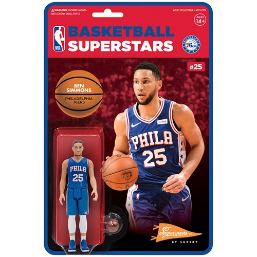 NBA Modern Ben Simmons (76ers) 3 3/4-Inch ReAction Figure