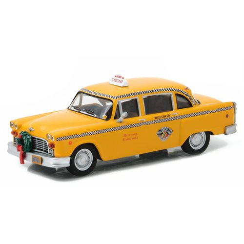 Scrooged 1978 Checker Taxi Cab 1:43 Scale Die-Cast Metal Vehicle