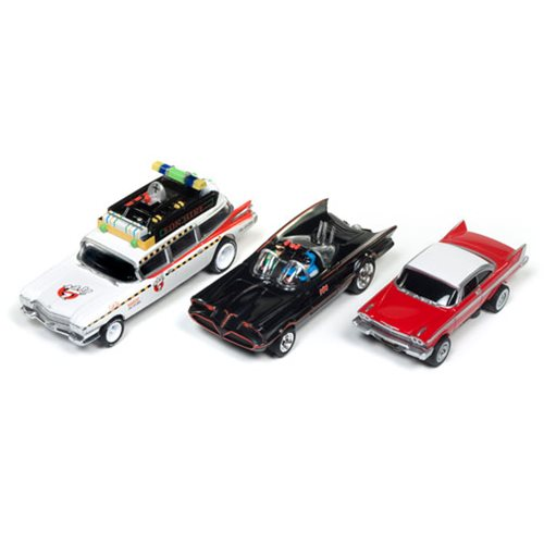 Silver Screen Machines Release 20 ThunderJet and 4 Gear Die-Cast Metal Vehicles Case
