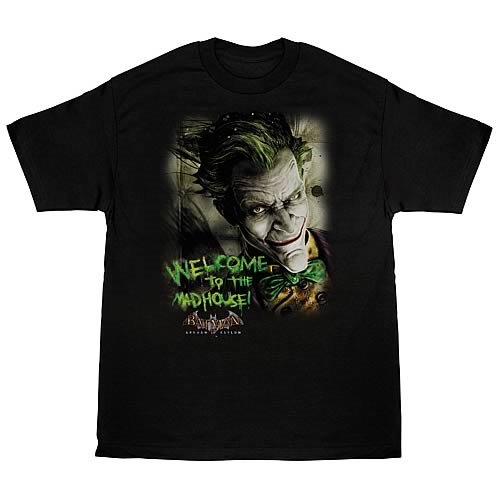 Batman Arkham Asylum Welcome to the Madhouse T-Shirt