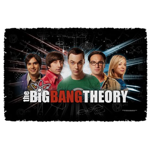 Big Bang Theory Group Spark Woven Tapestry Throw Blanket