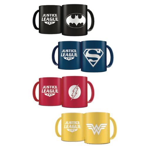 DC Heroes Laser Etched Mug Deluxe Color Limited Edition 4-Pack Set