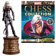 Marvel Amazing Spider-Man Black Cat Black Knight Chess Piece with Collector Magazine #86