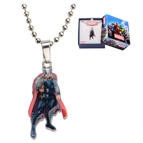 Thor Stainless Steel Cut Out Pendant Necklace