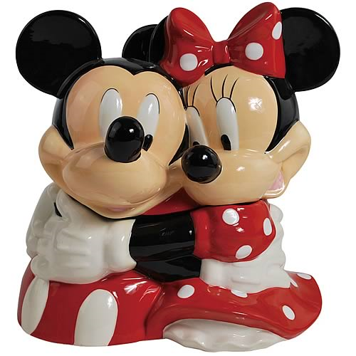 Disney Cookie Jars For Sale Impressive Disney Mickey And Minnie Mouse Hugging Cookie Jar Entertainment Earth