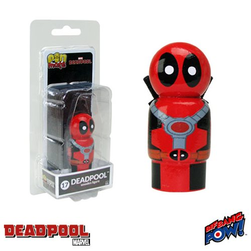 Deadpool Masked Pin Mate Wooden Figure