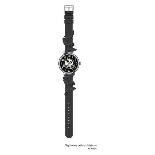 Nightmare Before Christmas Master of Fright with Cutout Bats on Black Strap Watch