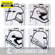 Star Wars: Episode VII - The Force Awakens Stormtrooper Coaster 4-Pack - Entertainment Earth Exclusive