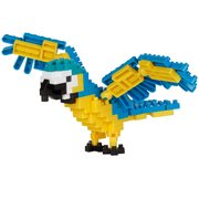Blue-and-Yellow Macaw Bird Nanoblock Constructible Figure