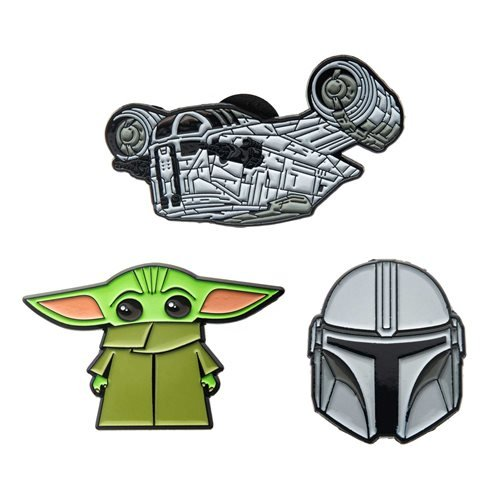 Star Wars The Mandalorian 3-Piece Enamel Pin Set