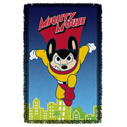 Mighty Mouse City Watch Woven Tapestry Throw Blanket