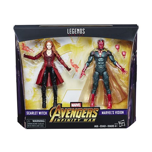 Marvel Legends Vision and Scarlet Witch 6-Inch Action Figures 2-Pack - Exclusive