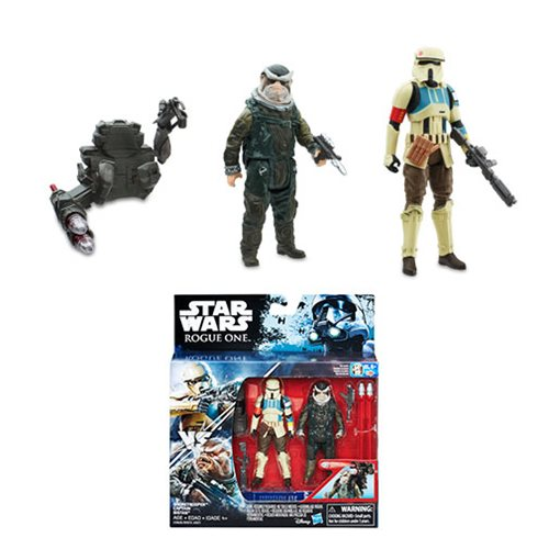 Star Wars Rogue One Shoretrooper and Bistan Action Figures
