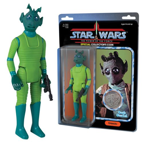 Star Wars Greedo Jumbo Vintage Power of the Force Kenner Action Figure