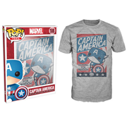 Captain America Fight for Justice Gray Pop! T-Shirt
