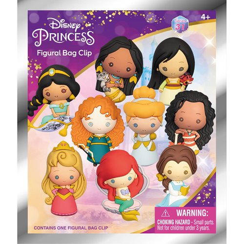 Disney Ultimate Princess Celebration Figural Bag Clip 6-Pack