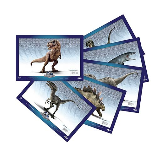 Jurassic World Dinosaurs Lithograph Print Set