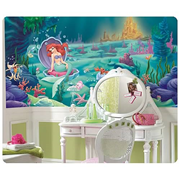 The Little Mermaid Chair Rail Prepasted Wall Mural