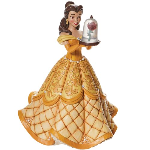Disney Traditions Beauty and the Beast Belle Deluxe A Rare Rose by Jim Shore Statue