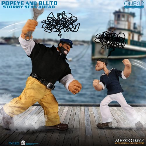 Popeye and Bluto Stormy Seas Ahead One:12 Collective Deluxe Action Figures Box Set