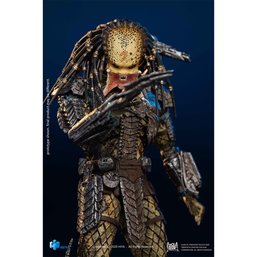 AVP: Alien vs. Predator Unmasked Scar Predator 1:18 Scale Action Figure - Previews Exclusive